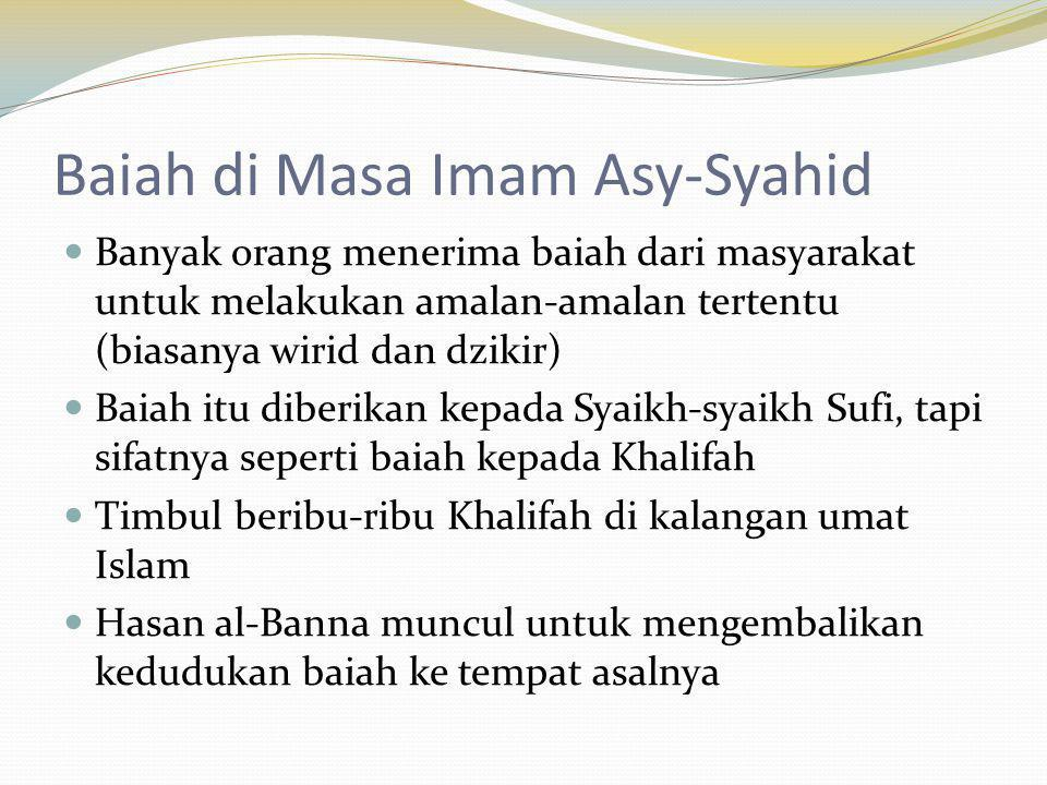 Baiah di Masa Imam Asy-Syahid