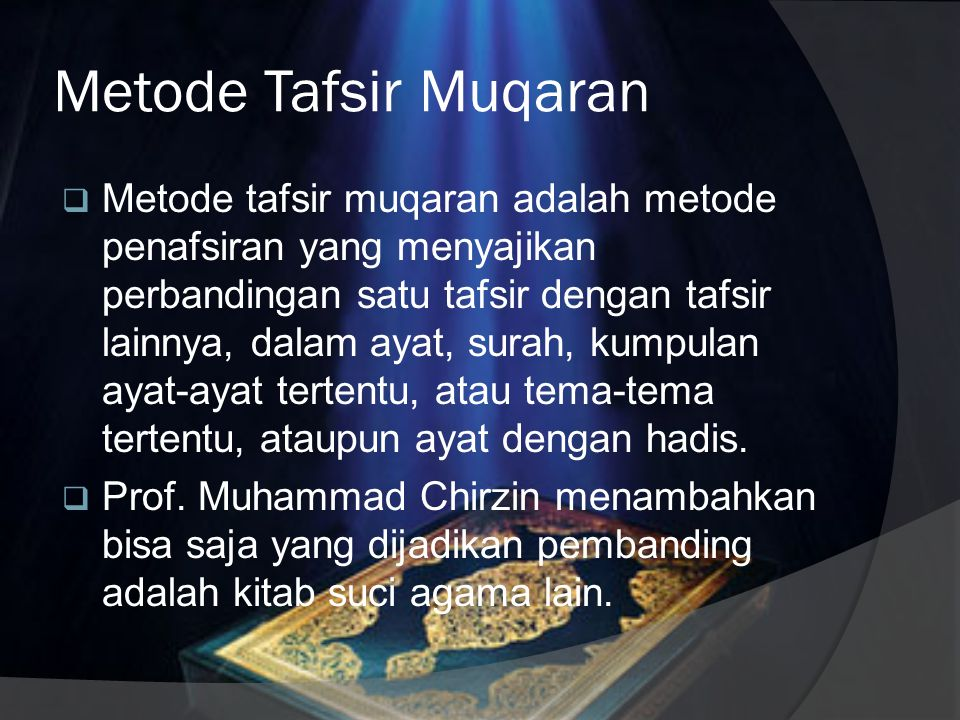 Metode Tafsir Muqaran