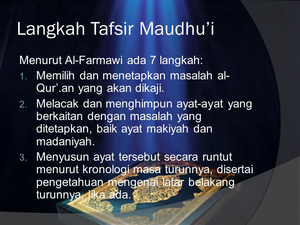 Langkah Tafsir Maudhu'i