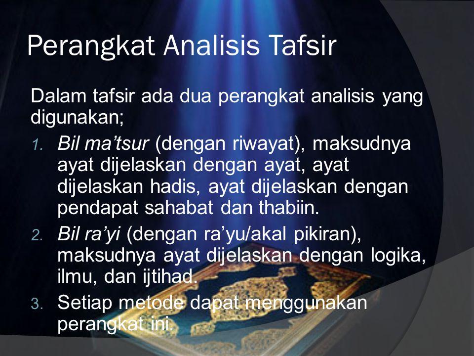 Perangkat Analisis Tafsir