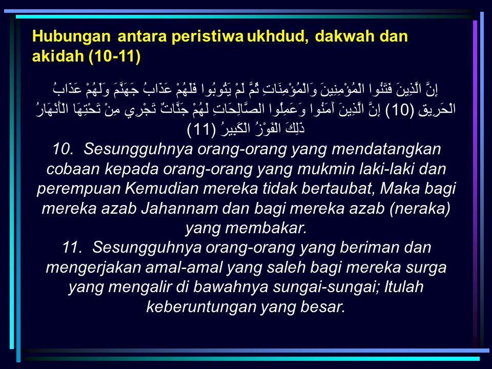 Hubungan antara peristiwa ukhdud, dakwah dan akidah (10-11)