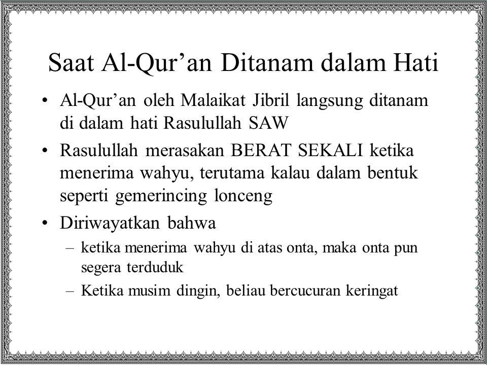 Saat Al-Qur'an Ditanam dalam Hati