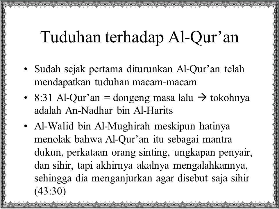 Tuduhan terhadap Al-Qur'an