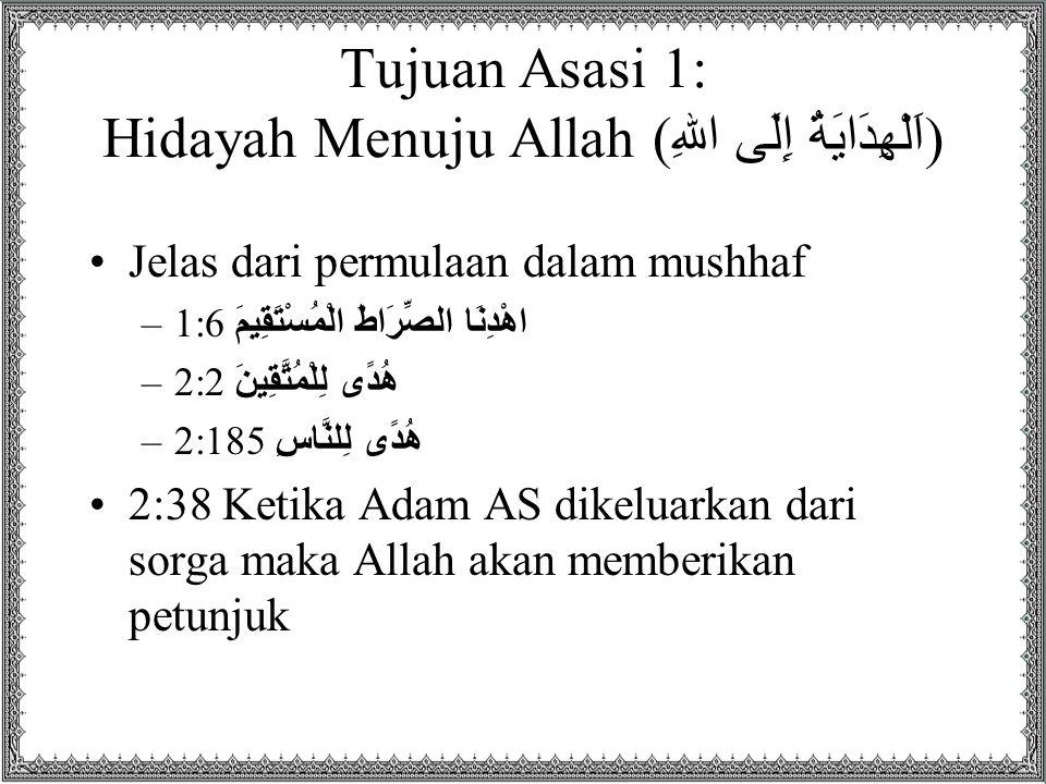 Tujuan Asasi 1: Hidayah Menuju Allah (اَلْهِدَايَةُ إِلَى اللهِ)