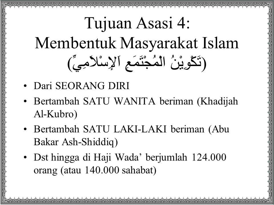Tujuan Asasi 4: Membentuk Masyarakat Islam (تَكْوِيْنُ الْمُجْتَمَعِ اَلإِسْلاَمِيِّ)