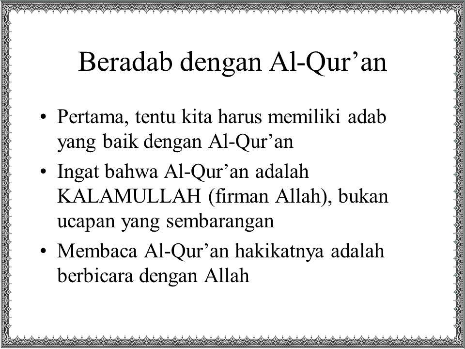 Beradab dengan Al-Qur'an