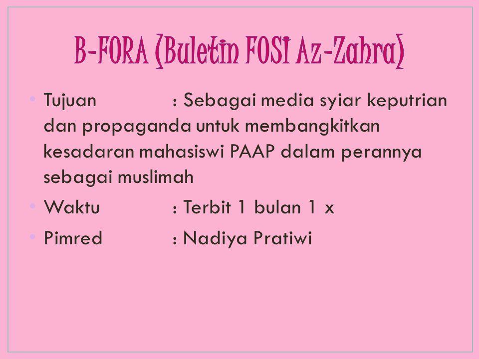 B-FORA (Buletin FOSI Az-Zahra)