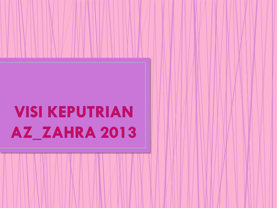 VISI KEPUTRIAN AZ_ZAHRA 2013