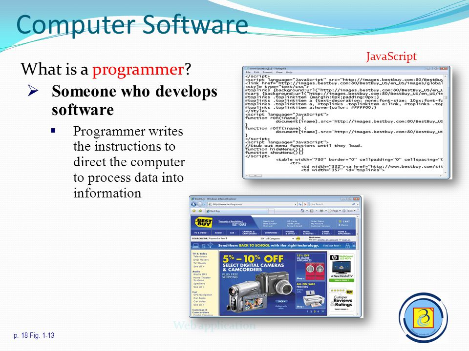 Computer Software What is a programmer Someone who develops software
