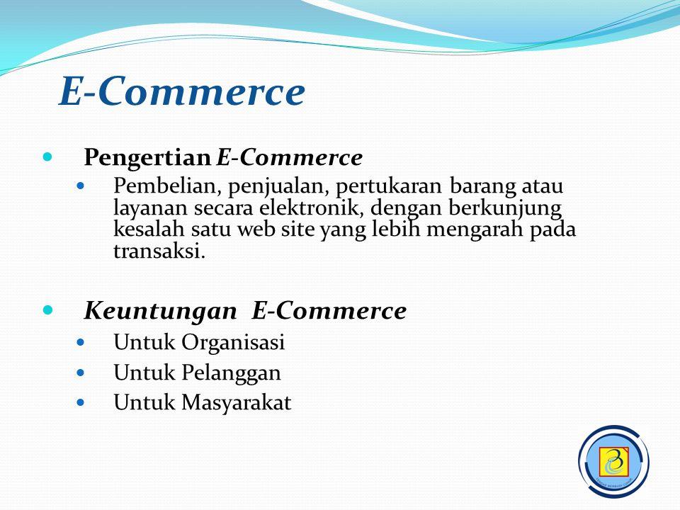 E-Commerce Keuntungan E-Commerce Pengertian E-Commerce