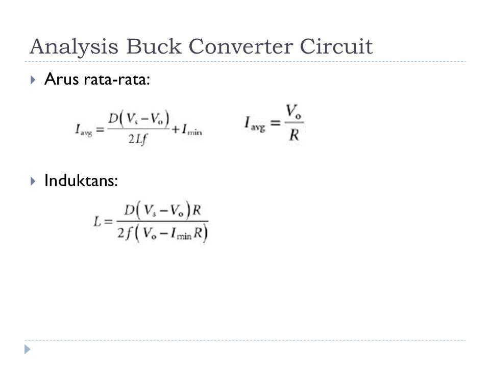 Analysis Buck Converter Circuit