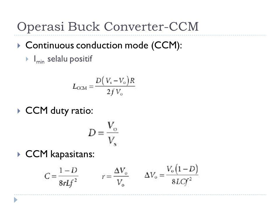 Operasi Buck Converter-CCM