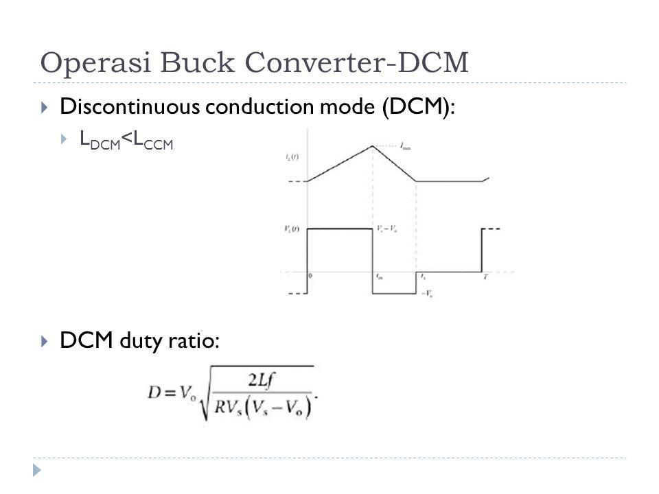 Operasi Buck Converter-DCM