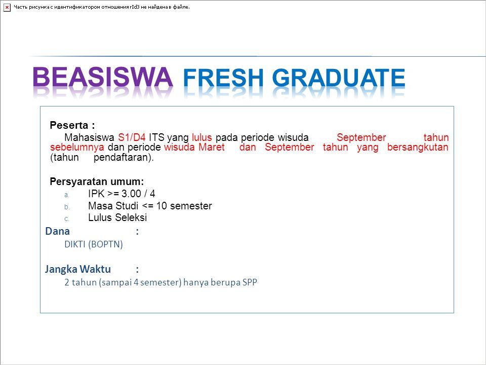 Beasiswa Fresh Graduate