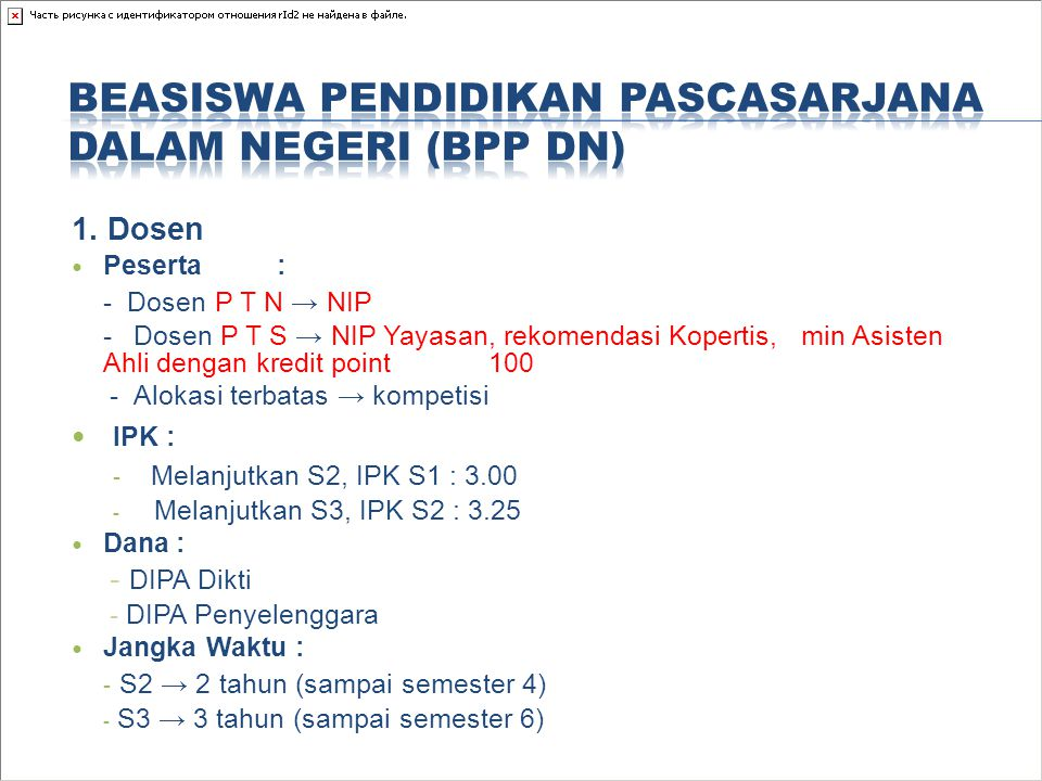 Beasiswa Pendidikan Pascasarjana Dalam Negeri (BPP DN)