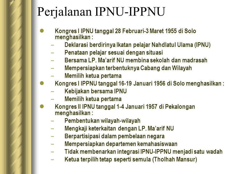 Perjalanan IPNU-IPPNU