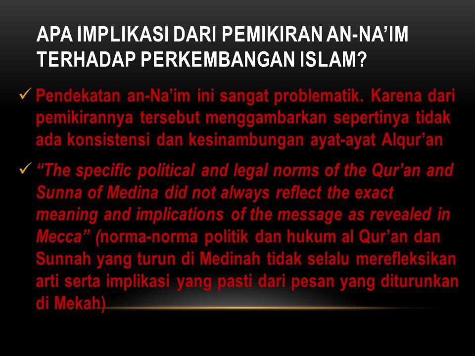 Apa Implikasi dari Pemikiran an-Na'im terhadap perkembangan Islam