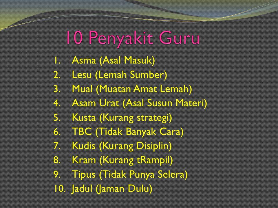 10 Penyakit Guru Asma (Asal Masuk) Lesu (Lemah Sumber)