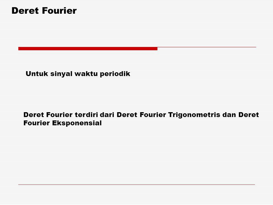 Deret Fourier Untuk sinyal waktu periodik