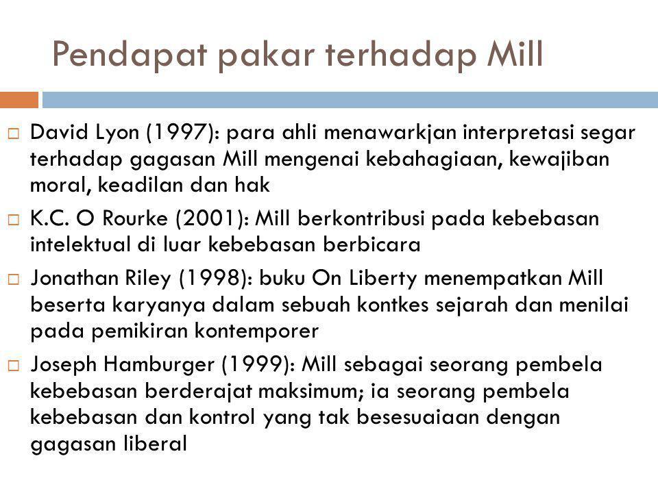 Pendapat pakar terhadap Mill