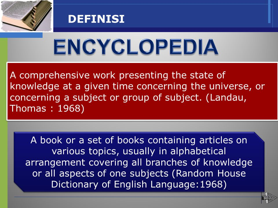 ENCYCLOPEDIA DEFINISI