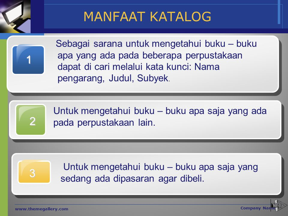 MANFAAT KATALOG 1.