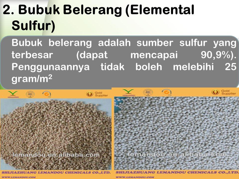 2. Bubuk Belerang (Elemental Sulfur)