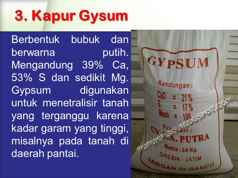 3. Kapur Gysum