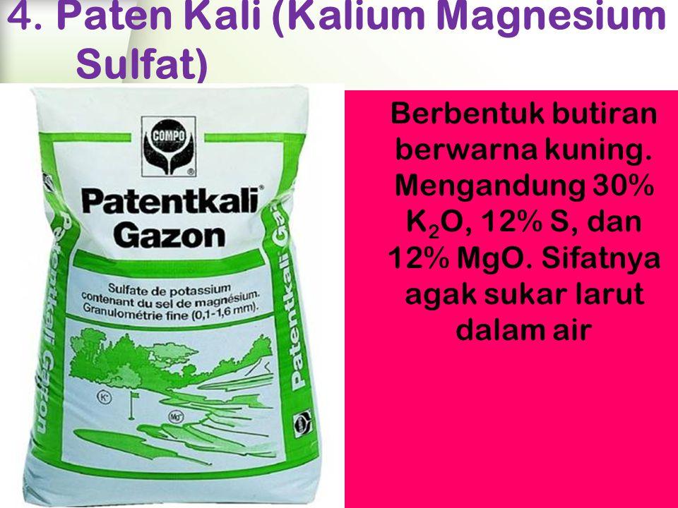 4. Paten Kali (Kalium Magnesium Sulfat)