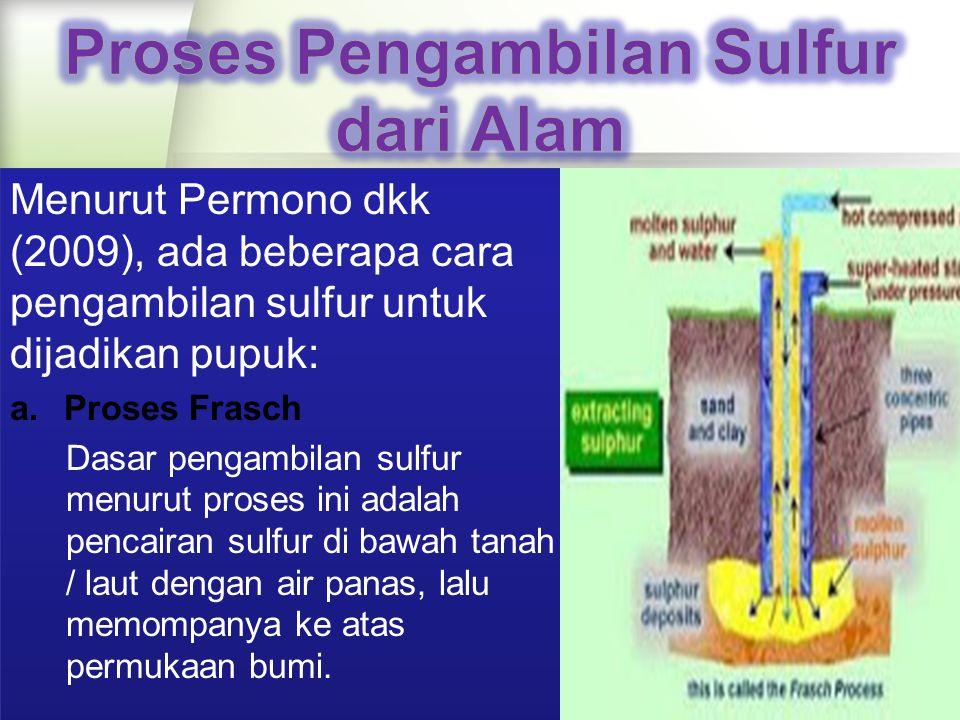 Proses Pengambilan Sulfur dari Alam