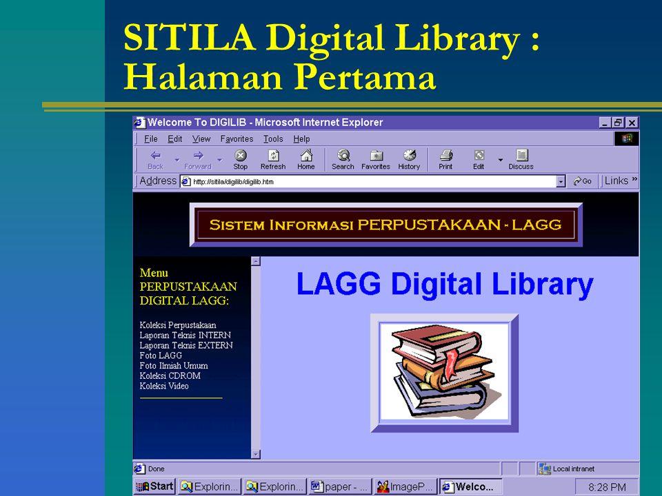 SITILA Digital Library : Halaman Pertama