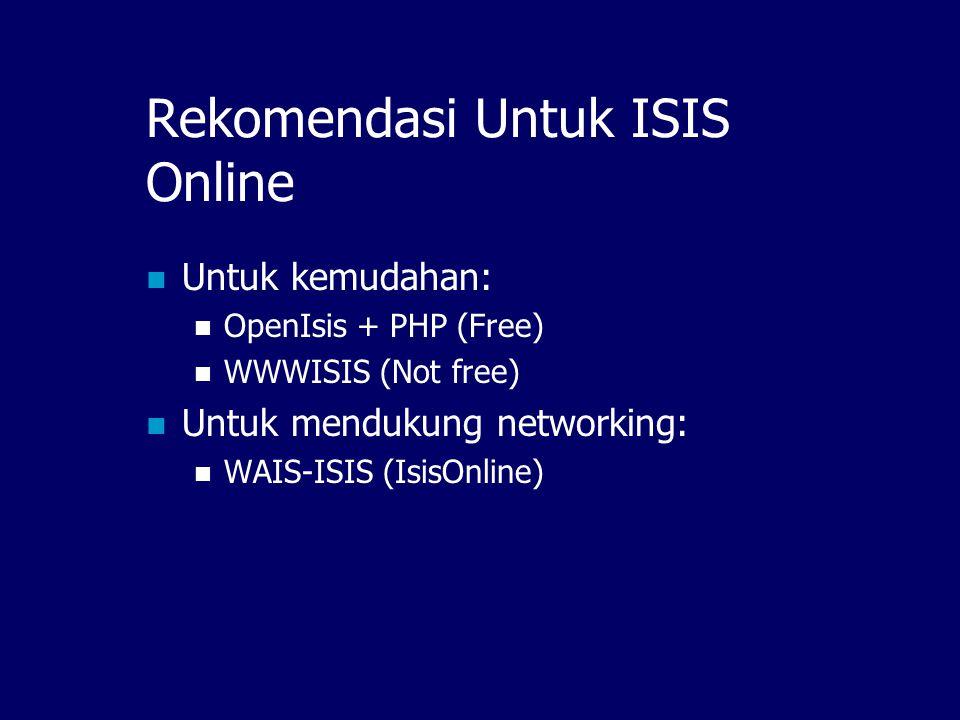 Rekomendasi Untuk ISIS Online