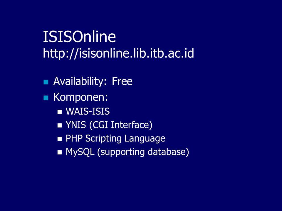 ISISOnline http://isisonline.lib.itb.ac.id