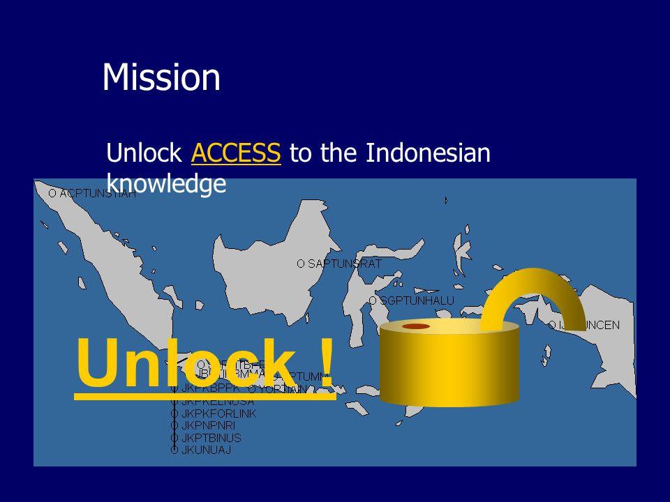 Mission Unlock ACCESS to the Indonesian knowledge Unlock !