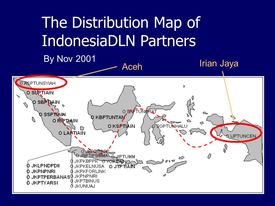 The Distribution Map of IndonesiaDLN Partners