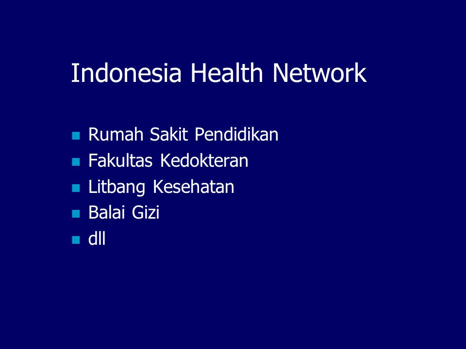 Indonesia Health Network