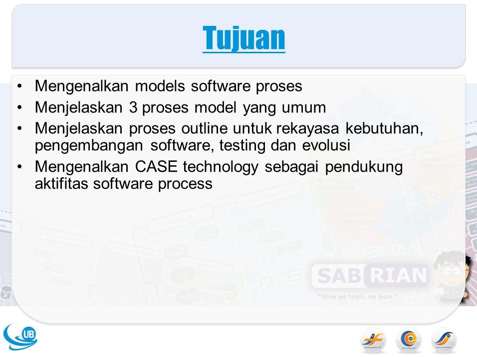 Tujuan Mengenalkan models software proses