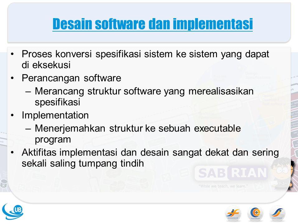 Desain software dan implementasi