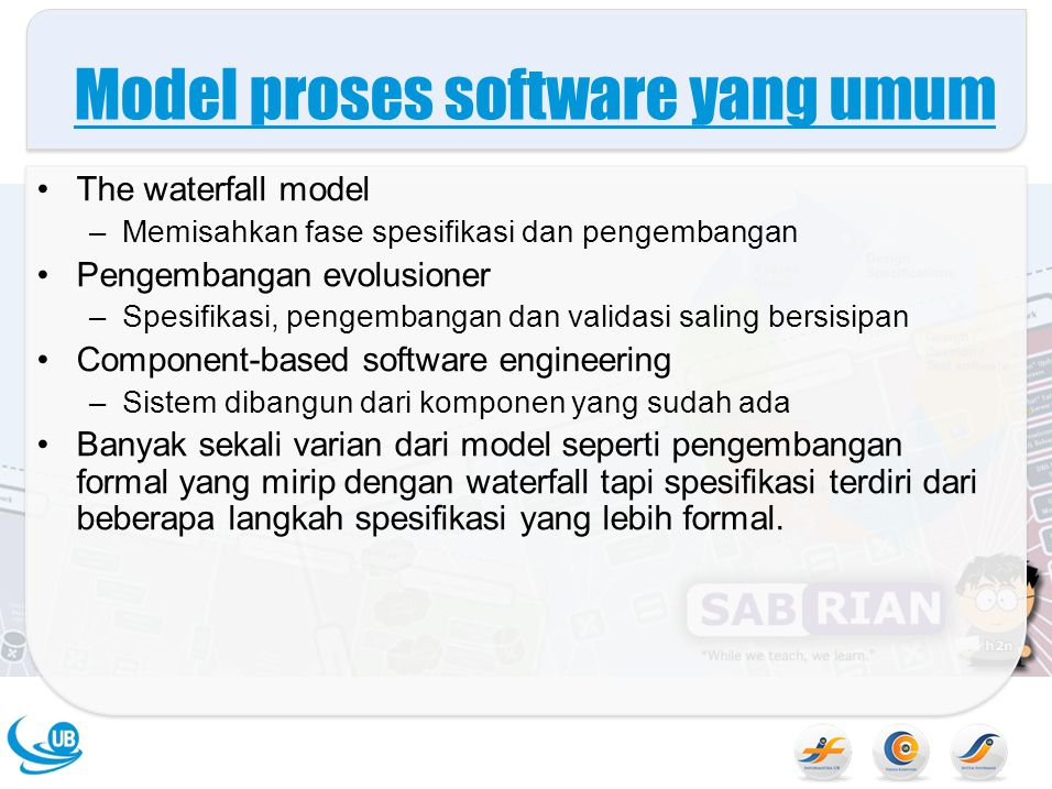 Model proses software yang umum