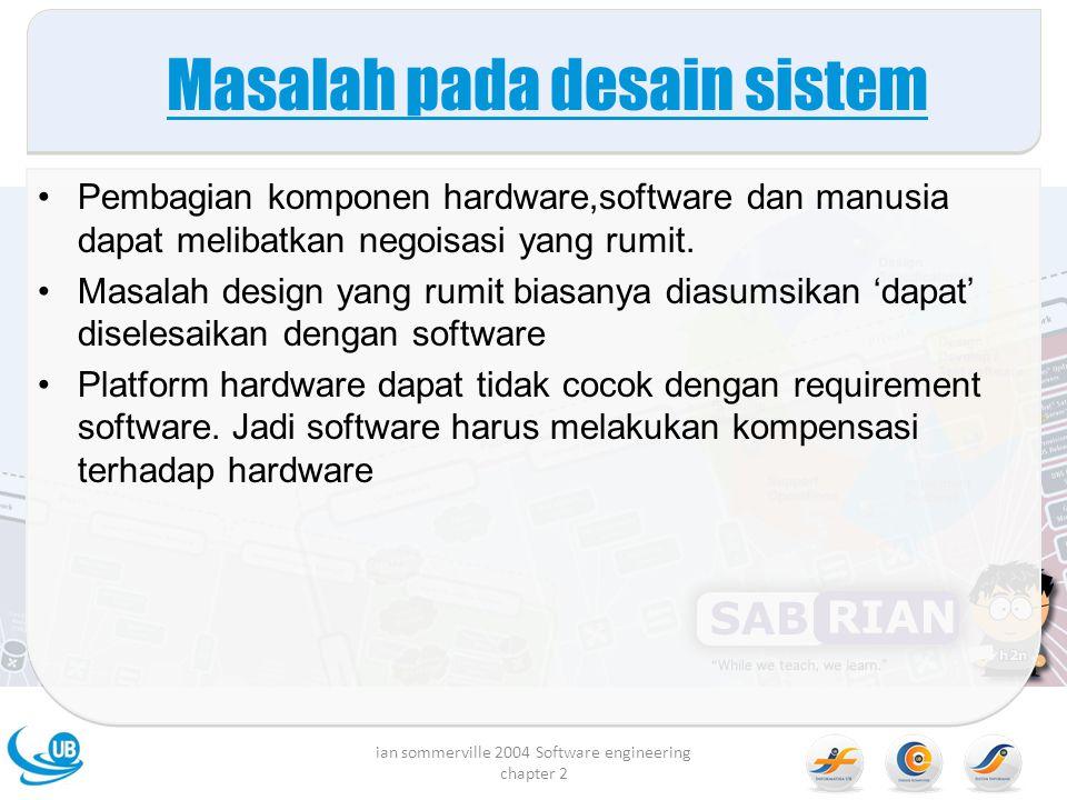 Masalah pada desain sistem