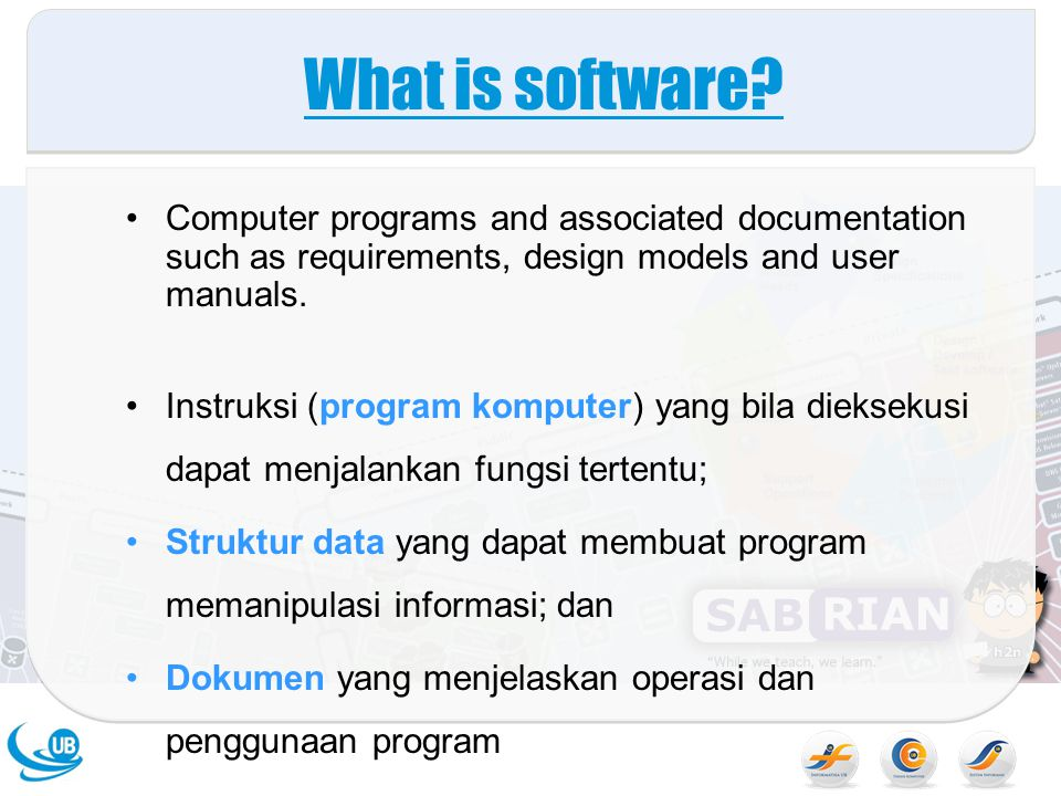 What is software Computer programs and associated documentation such as requirements, design models and user manuals.