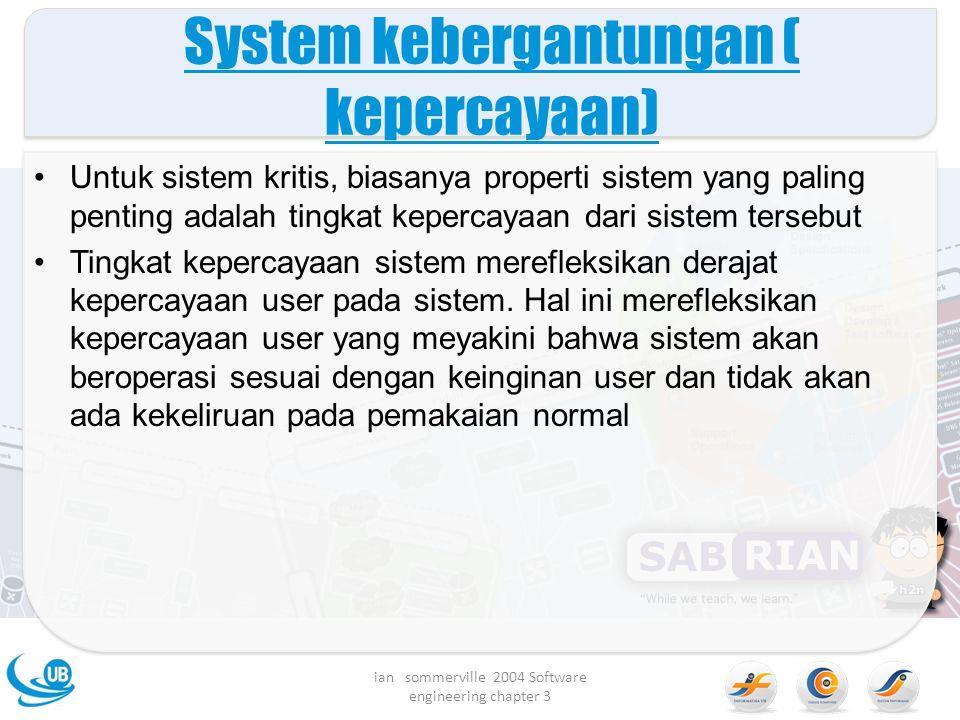 System kebergantungan ( kepercayaan)