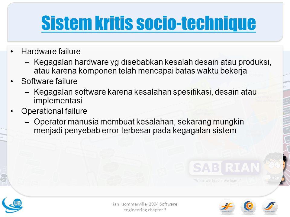 Sistem kritis socio-technique