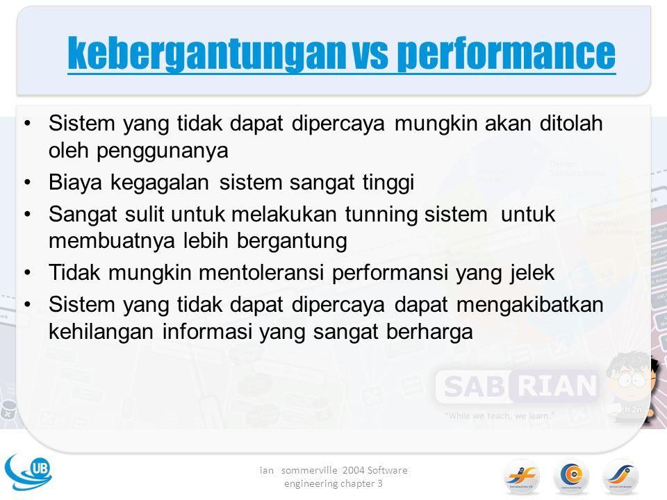 kebergantungan vs performance
