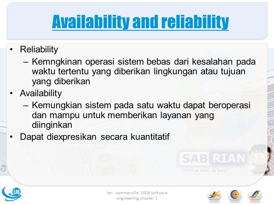Availability and reliability