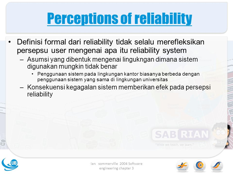 Perceptions of reliability