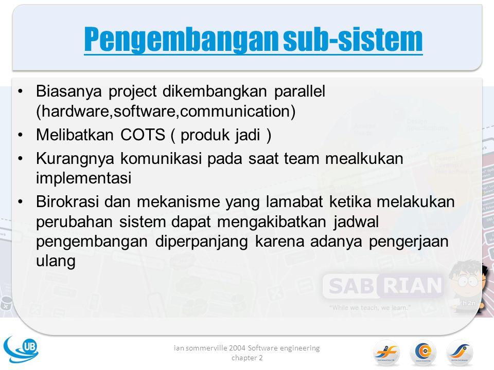Pengembangan sub-sistem
