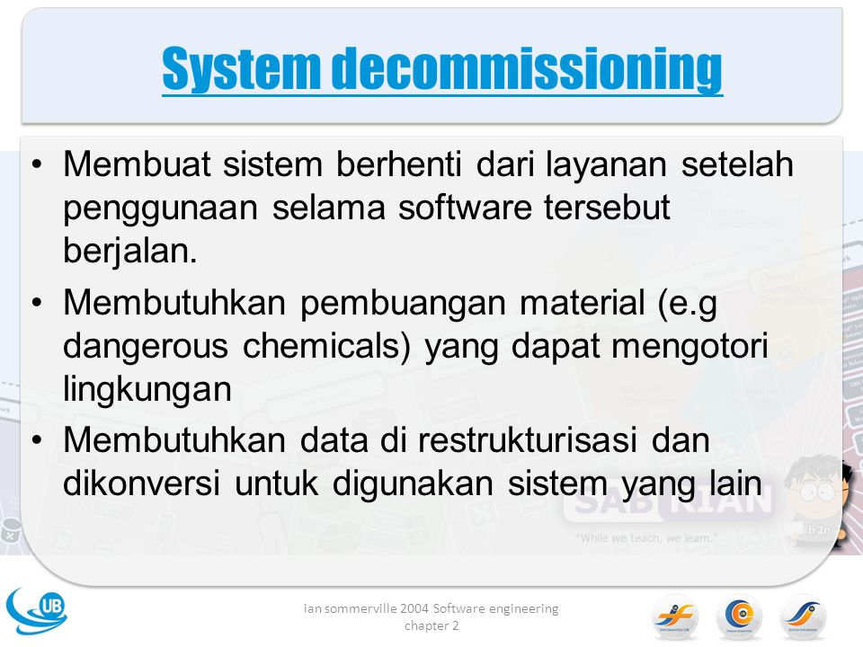 System decommissioning