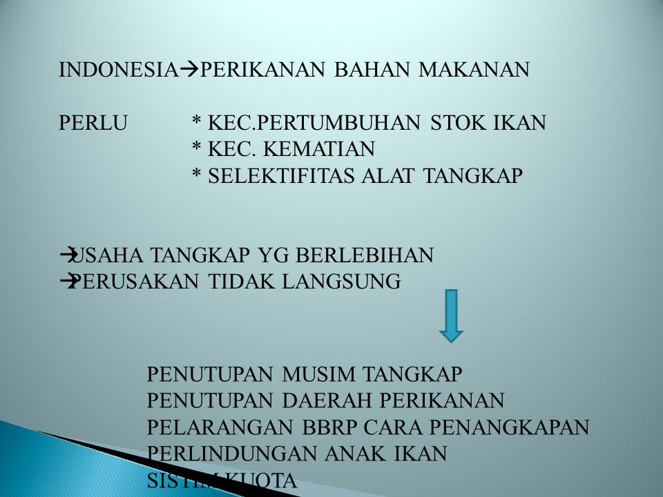 INDONESIAPERIKANAN BAHAN MAKANAN