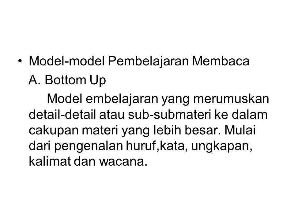 Model-model Pembelajaran Membaca